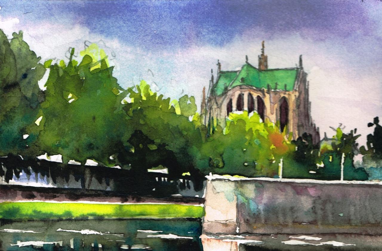 Cathédrale de dos Metz