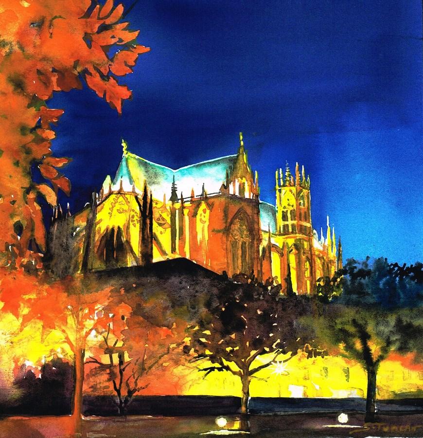 Cathédrale Metz Nuit