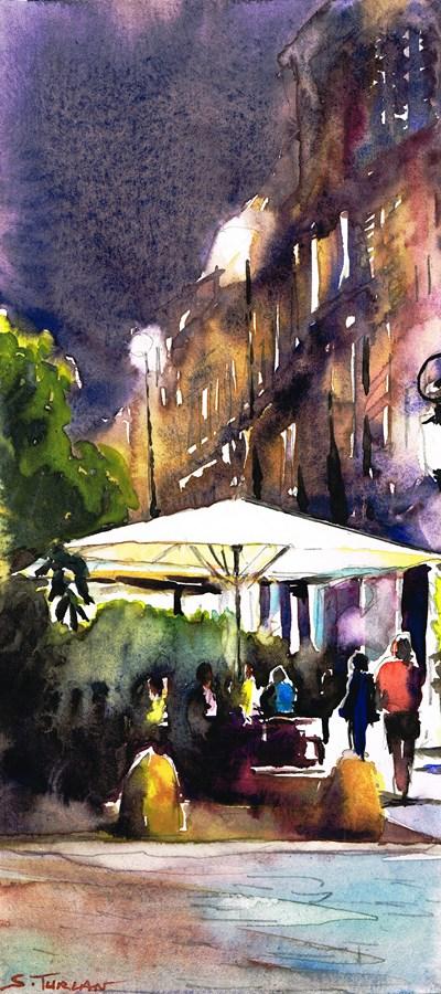 Parasol Metz la nuit.