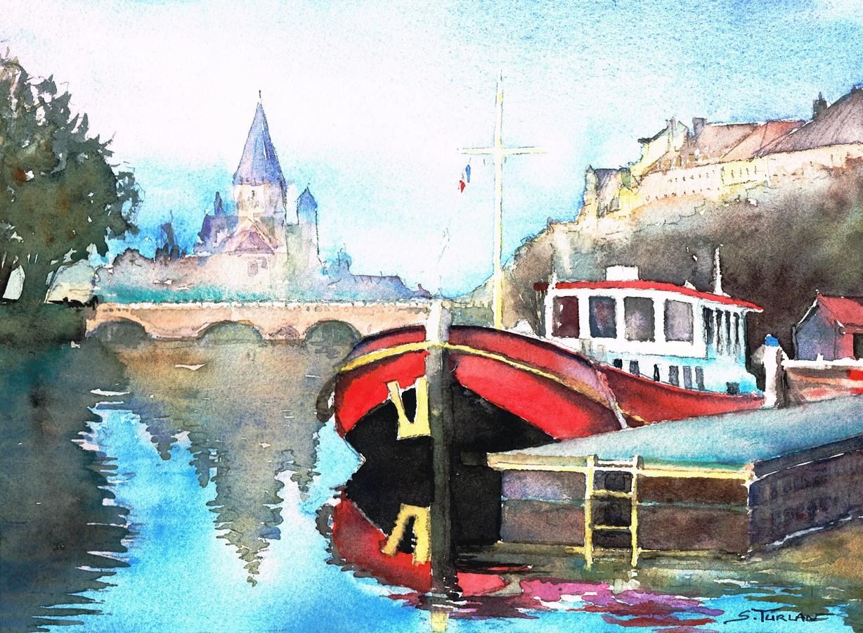 Peniche à Metz