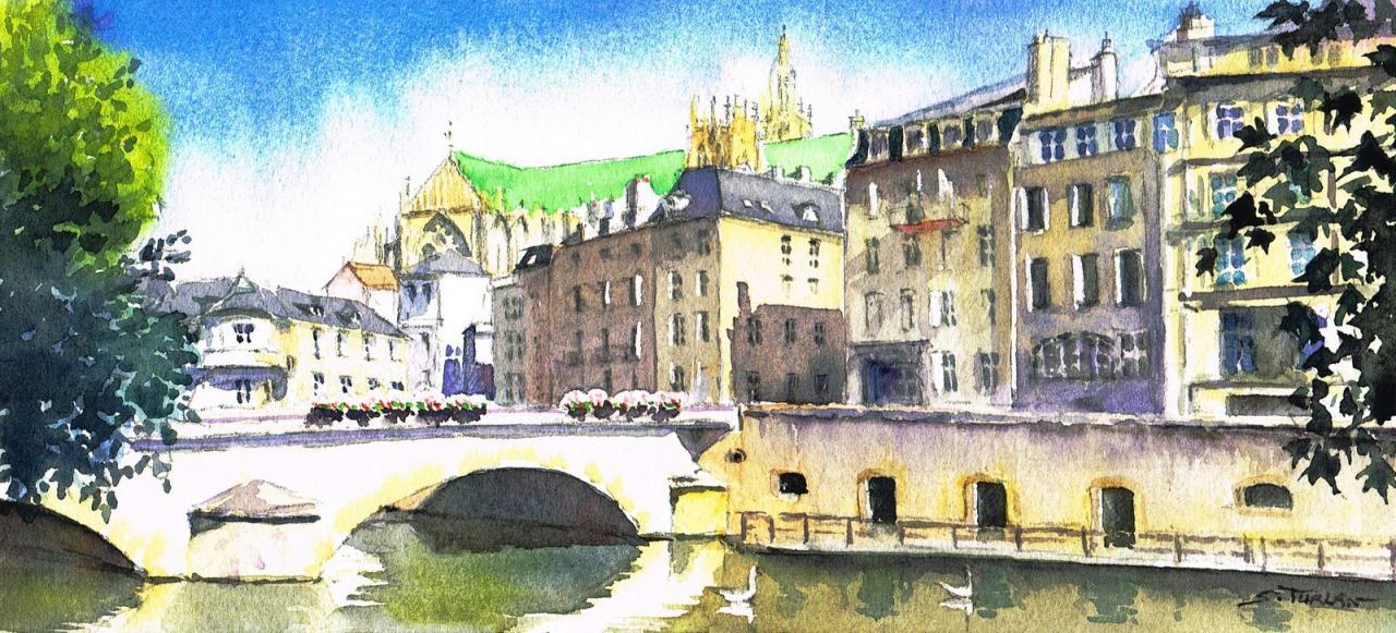 Pont  à Metz
