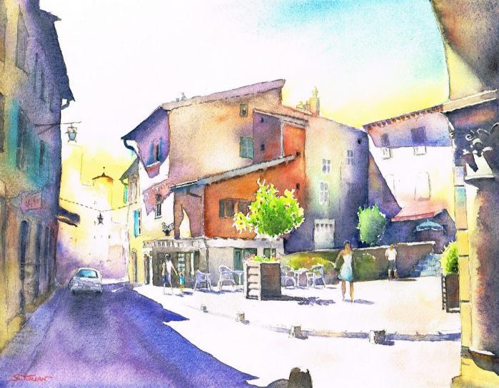 Brioude place St Julien