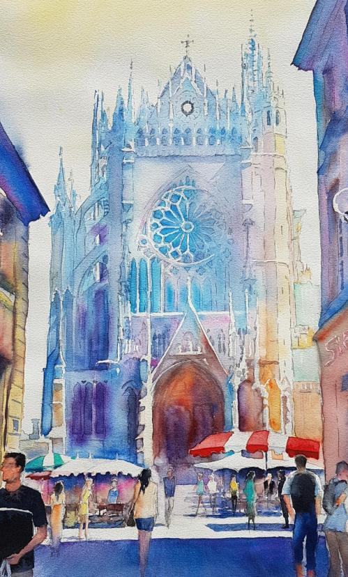 Cathedrale et marche de metz