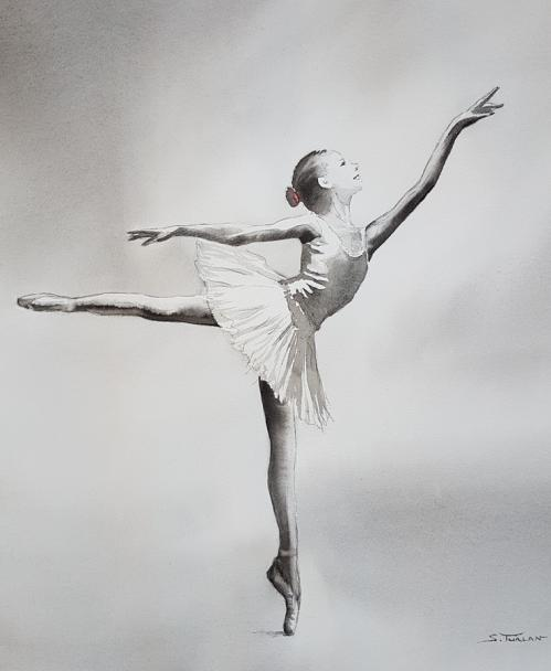 Danseuse classique arabesque