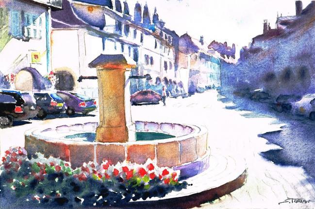 Fontaine  Lons  le Saunier (Jura)