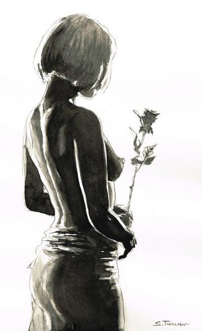 Nu a la rose