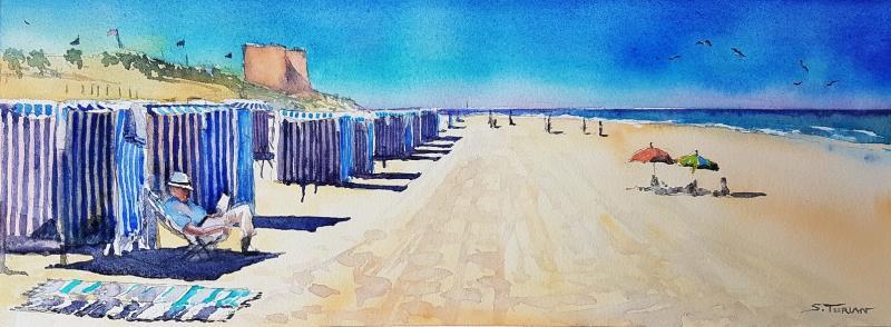 Soulac Lecture à la plage