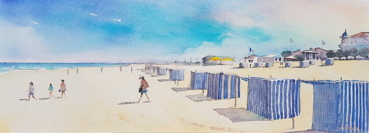 Soulac sur mer à la plage