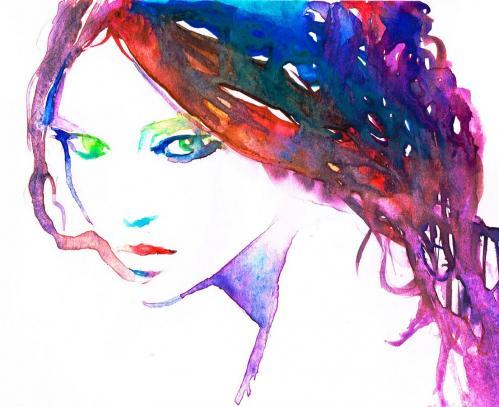 Visage colore